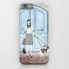 Lady With Two Dogs Slim Case iPhone 6s