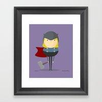 My Handy Hero! Framed Art Print