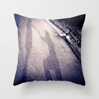 Shadow Proposal Throw Pillow