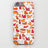 Foxy Foxes Doodle iPhone 6 Slim Case