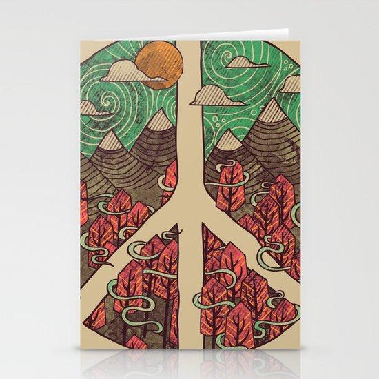 Peaceful Landscape Stationery Card