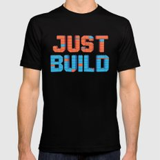 Just Build Black Mens Fitted Tee SMALL