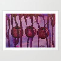 Chocolate Covered Cherries Art Print