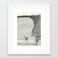 'The Field By The Forest' Framed Art Print