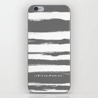 Brush Stroke Stripe Gray iPhone & iPod Skin