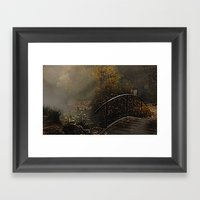 Bridge to the unknown Framed Art Print