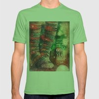 Holiday Greetings  Mens Fitted Tee Grass SMALL