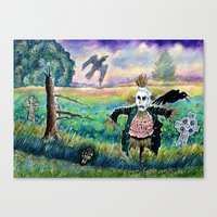 Halloween Field With Fun… Canvas Print