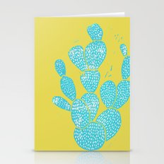 Linocut Cacti #1 Desert Blue Stationery Cards