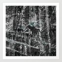 Noir Forest Art Print