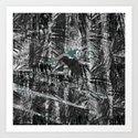 Noir Forest Art Print