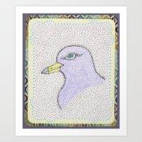 Dotted Bird #1 Art Print