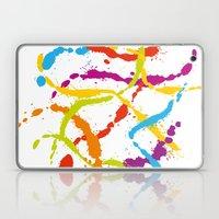 Splattered Rainbow [WHIT… Laptop & iPad Skin