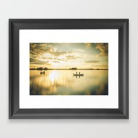 Ghosts On A Boat Framed Art Print