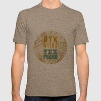 ATX Weird TEX Proud Mens Fitted Tee Tri-Coffee SMALL