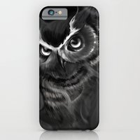 iPhone & iPod Case featuring Owl Aflame by S.G. DeCarlo