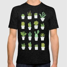 Cactuses. Succulents. Mens Fitted Tee Tri-Black SMALL