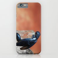 iPhone & iPod Case featuring Dragon on Quartz crystals by Kimberly Sulzer-Girlwithafrogtattoo