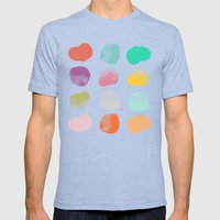 Colored Dots Mens Fitted Tee Tri-Blue SMALL