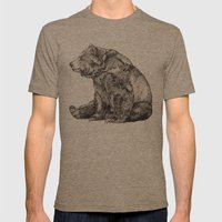Bear // Graphite Mens Fitted Tee Tri-Coffee SMALL
