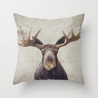 Throw Pillow featuring Moose by Retro Love Photograp…