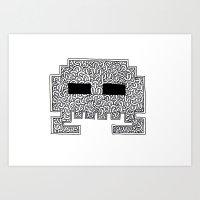 Celtic Invader Art Print