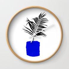 Blue Pot Wall Clock