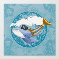 Ballena Pirata Canvas Print