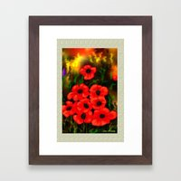 Poppies Card By Ave Hurl… Framed Art Print
