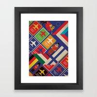 EU Travel Poster Framed Art Print