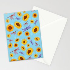 Sunflowers & Dragonflies Stationery Cards