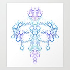 Ink Blot (Light) Art Print