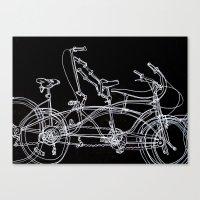 White Bikes Canvas Print