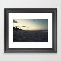 Evening Walk Framed Art Print