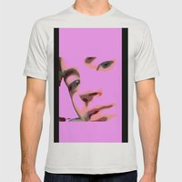 Geisha  Mens Fitted Tee Silver SMALL