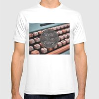 Write Your Story Mens Fitted Tee White SMALL
