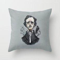 Mr. Poe  Throw Pillow