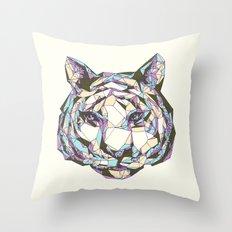 Crystal Tiger Throw Pillow