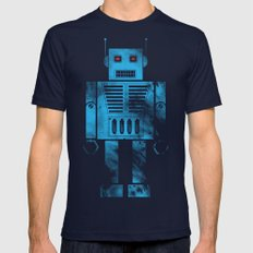 Robophobia Mens Fitted Tee Navy SMALL
