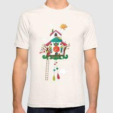Cuckoo Mouse House Natural SMALL Mens Fitted Tee