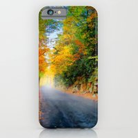 iPhone & iPod Case featuring Autumn Road by Anthony M. Davis