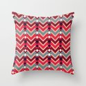 Fractal Mountains - candy Throw Pillow