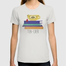 Teacher Womens Fitted Tee Silver SMALL