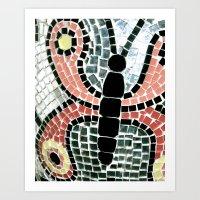 Tiled Butterfly  Art Print