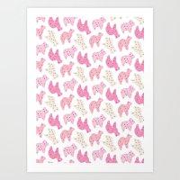 Animal Cookies - in Multi Art Print