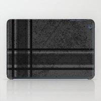 Grungy Grey Plaid iPad Case