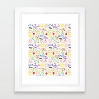 Crayon Doodle  Framed Art Print