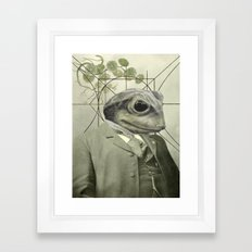 Frog Internal Portrait Framed Art Print