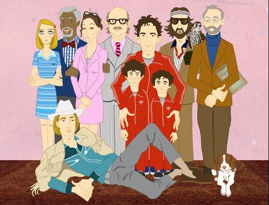 Royal Tenenbaums Family Portrait  Art Print