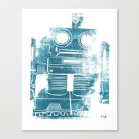 Sad Robot Canvas Print